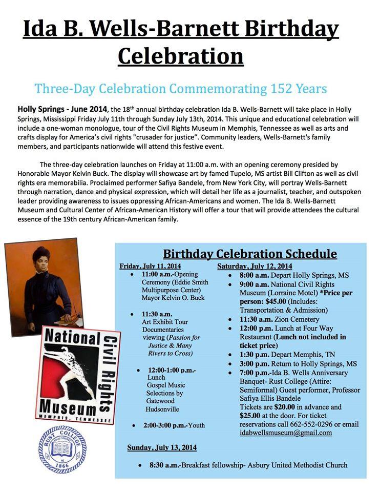 Ida B. Wells-Barnett Birthday Celebration